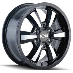 Ion Alloy Wheels 102 - Black W/Machined Face Rim