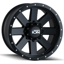 Ion Alloy Wheels 134 - Matte Black W/Matte Black Beadlock - 18x10