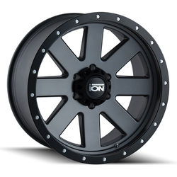 Ion Alloy Wheels 134 - Matte Gunmetal W/Matte Black Beadlock Rim