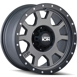 Ion Alloy Wheels 135 - Matte Gunmetal w/Matte Black Beadlock Rim