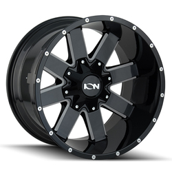 Ion Alloy Wheels 141 - Black W/Milled Spokes Rim