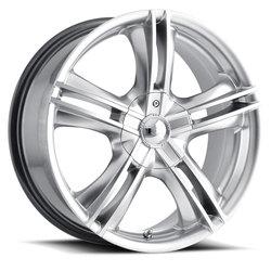 Ion Alloy Wheels 161 - Hyper Silver w/Machined Face Rim - 15x7