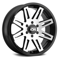 Ion Alloy Wheels 142 - Black W/ Machined Spokes Rim