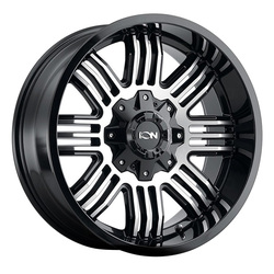 Ion Alloy Wheels 144 - Black/Machined Rim