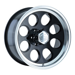 Ion Alloy Wheels 171 - Black w/Machined Lip Rim - 16x10