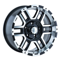 Ion Alloy Wheels 179 - Black W/Machined Face Rim
