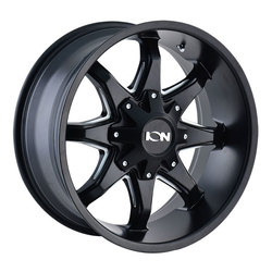 Ion Alloy Wheels 181 - Satin Black w/Milled Spokes Rim
