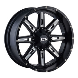 Ion Alloy Wheels 184 - Satin Black w/Milled Spokes Rim