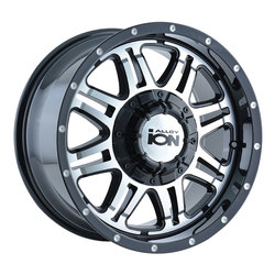 Ion Alloy Wheels Ion Alloy Wheels 186 - Black W/Machined Face