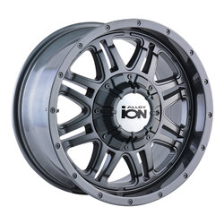 Ion Alloy Wheels 186 - Gunmetal - 18x9