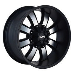 Ion Alloy Wheels 189 - Satin Black w/Machined Face Rim