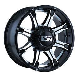 Ion Alloy Wheels 196 - Black w/Machined Face w/Machined Under-Cut Rim - 18x9