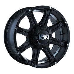Ion Alloy Wheels 196 - Matte Black w/Machined Under-Cut Rim - 18x9