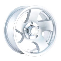 Ion Alloy Wheels Ion Alloy Wheels 10 - Machined w/Silver Window - 14x6