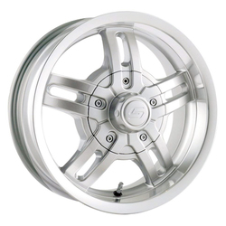 Ion Alloy Wheels 12 - Silver w/Machine Lip Rim - 14x6