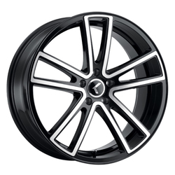 Kraze Wheels 190 Lusso - Gloss Black with Machined Face Rim