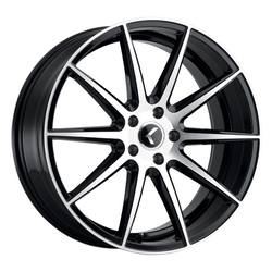 Kraze Wheels 193 Turismo - Gloss Black with Machined Face Rim