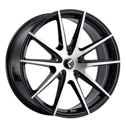 Kraze Wheels 194 Cosmos - Gloss Black with Machined Face Rim
