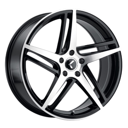 Kraze Wheels 195 Milano - Gloss Black with Machined Face Rim