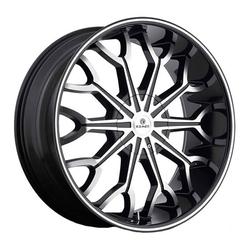 Kraze Wheels KR1012 Frenzy - Black Machined Rim - 26x10