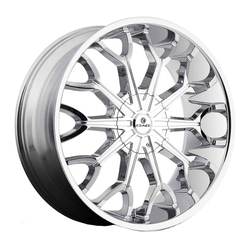 Kraze Wheels KR1012 Frenzy - Chrome Rim - 26x10