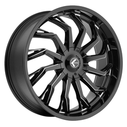 Kraze Wheels KR142 Scrilla - Gloss Black Milled Rim - 26x10