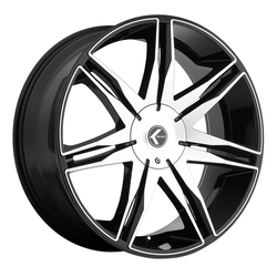 Kraze Wheels KR143 Epic - Black Machined Rim - 24x9.5