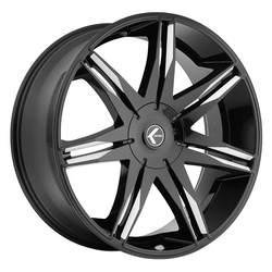 Kraze Wheels KR143 Epic - Gloss Black Milled Rim - 24x9.5