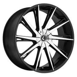 Kraze Wheels KR144 Swagg - Black Machined Rim - 26x10