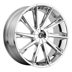 Kraze Wheels KR144 Swagg - Chrome Rim - 26x10