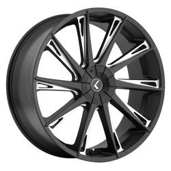 Kraze Wheels KR144 Swagg - Gloss Black Milled Rim - 24x9.5