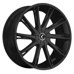 Kraze Wheels KR144 Swagg - Satin Black Rim - 24x9.5
