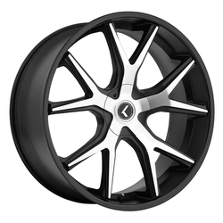 Kraze Wheels KR146 Spltz - Black Machined Rim - 24x9.5