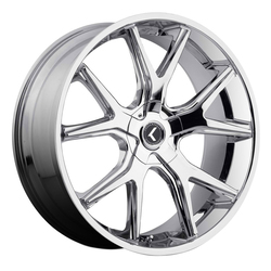 Kraze Wheels KR146 Spltz - Chrome Rim - 24x9.5