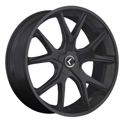 Kraze Wheels KR146 Spltz - Satin Black Rim - 24x9.5