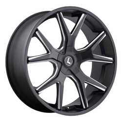 Kraze Wheels KR146 Spltz - Satin Black Milled Rim - 24x9.5