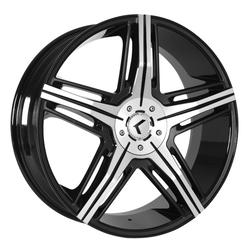 Kraze Wheels KR158 Hype - Black Machined Rim