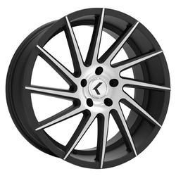 Kraze Wheels KR181 Spinner - Black Machined Rim