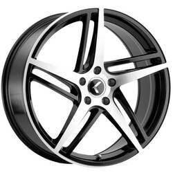 Kraze Wheels KR195 Milano - Black Machined Rim
