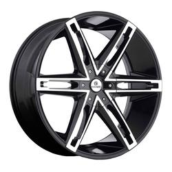 Kraze Wheels KR311 Mania - Black Machined Rim - 26x10