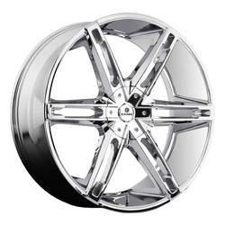 Kraze Wheels KR311 Mania - Chrome Rim - 26x10