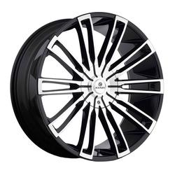 Kraze Wheels KR312 Inspire - Black Machined Rim - 26x10
