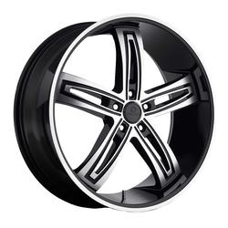 Kraze Wheels KR412 Ravish - Black Machined Rim