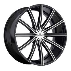 Kraze Wheels KR724 Passion - Black Machined Rim - 26x10