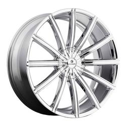Kraze Wheels KR724 Passion - Chrome Rim - 26x10