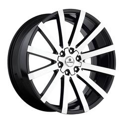 Kraze Wheels KR725 Desire - Black Machined Rim - 26x10