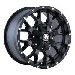Mayhem Wheels 8015 Warrior - Matte Black Rim - 22x12