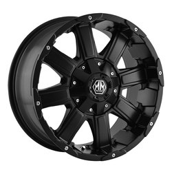 Mayhem Wheels 8030 Chaos - Matte Black Rim - 22x12