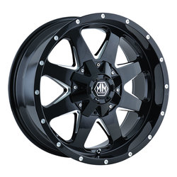 Mayhem Wheels 8040 Tank - Black w/Milled Spokes Rim