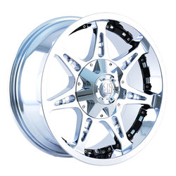 Mayhem Wheels 8060 Missile - Chrome w/Black Facet - 22x14